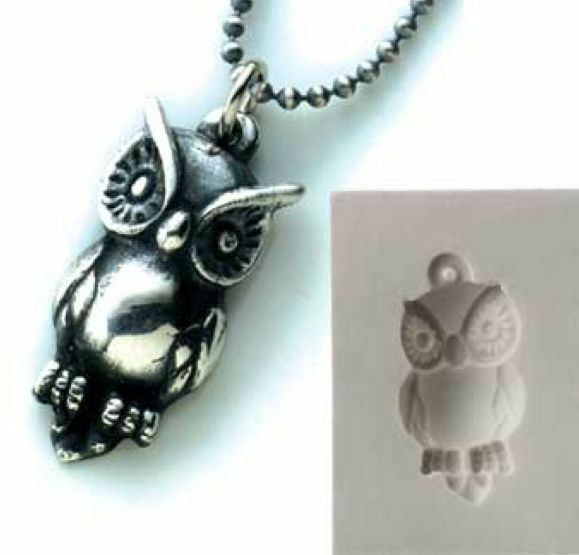 pmc silver clay jewelry push mold owl pendant mould ebay