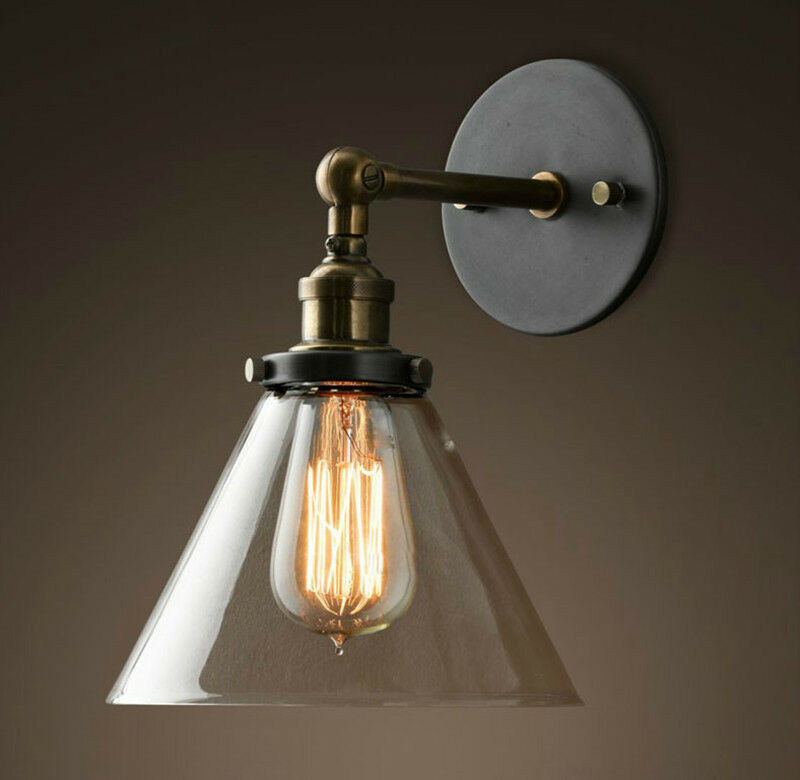 New DIY Loft Industrial Vintage Wall Lamps Glass lamp shade light for bar coffee eBay