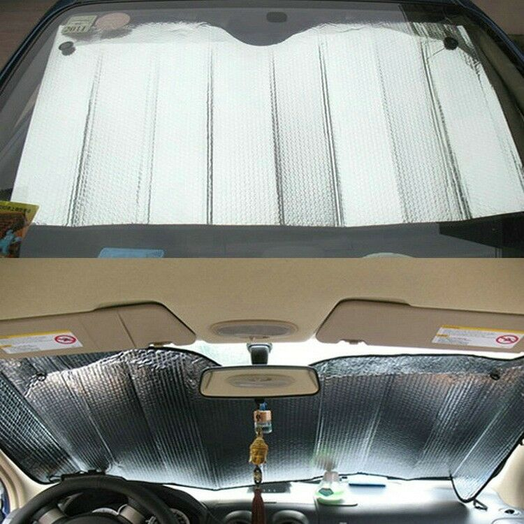 foldable auto front rear window sun shade car windshield visor cover block new f ebay. Black Bedroom Furniture Sets. Home Design Ideas