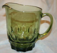 CONTINENTAL CAN CO GREEN PITCHER RARE VINTAGE GLASS