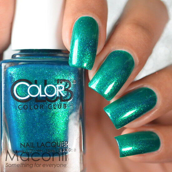 Who Sells Color Club Nail Polish: Teal Green Metallic Blue