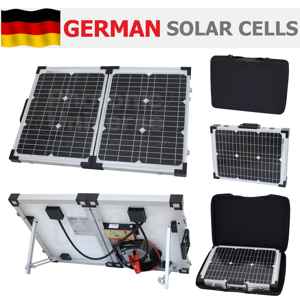 40w 12v Folding Solar Panel Charging Kit For Camper