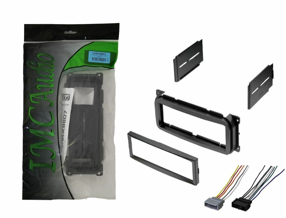 radio mounting stereo install trim installation single din dash kit wire harness ebay