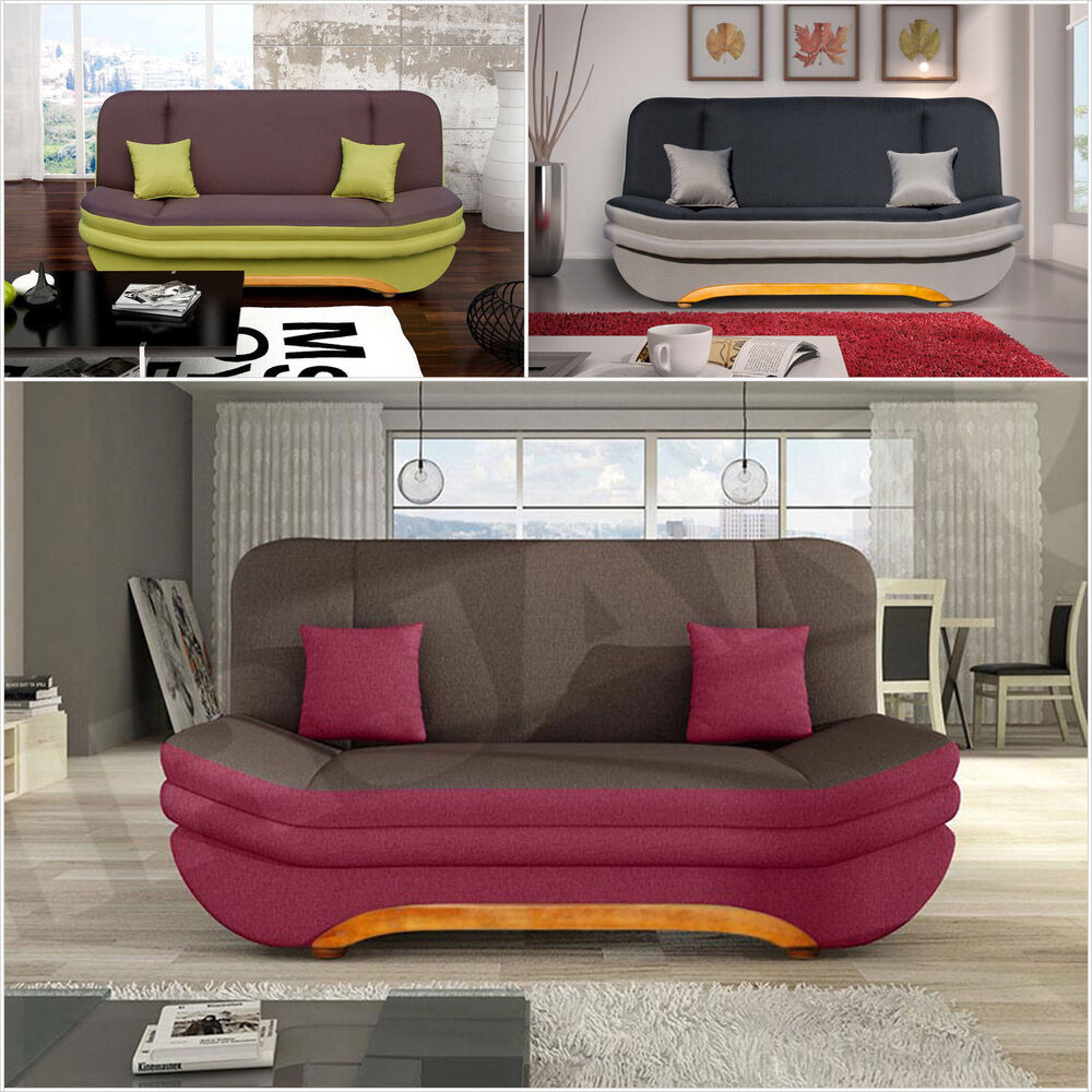 schlafsofa victoria sofa couch schlafcouch mit bettkasten gro e farbauswahl ebay. Black Bedroom Furniture Sets. Home Design Ideas