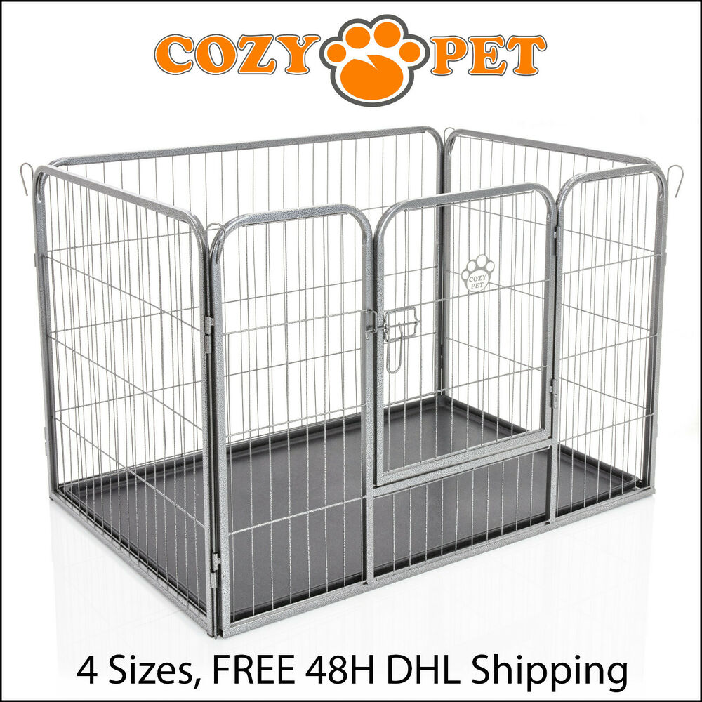 Heavy Duty Cozy Pet Puppy Playpen Run Crate Enclosure