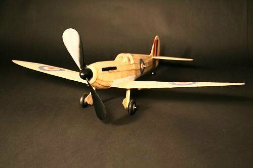 Supermarine Spitfire Mk Vb Balsa Wood Scale Plane Kit By