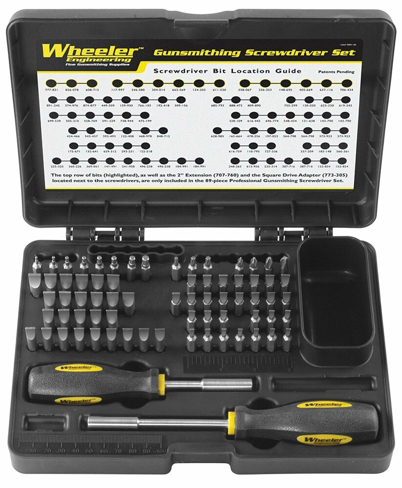 gunsmith screwdriver kit wheeler gunsmithing tool set firearm hunting bits to. Black Bedroom Furniture Sets. Home Design Ideas