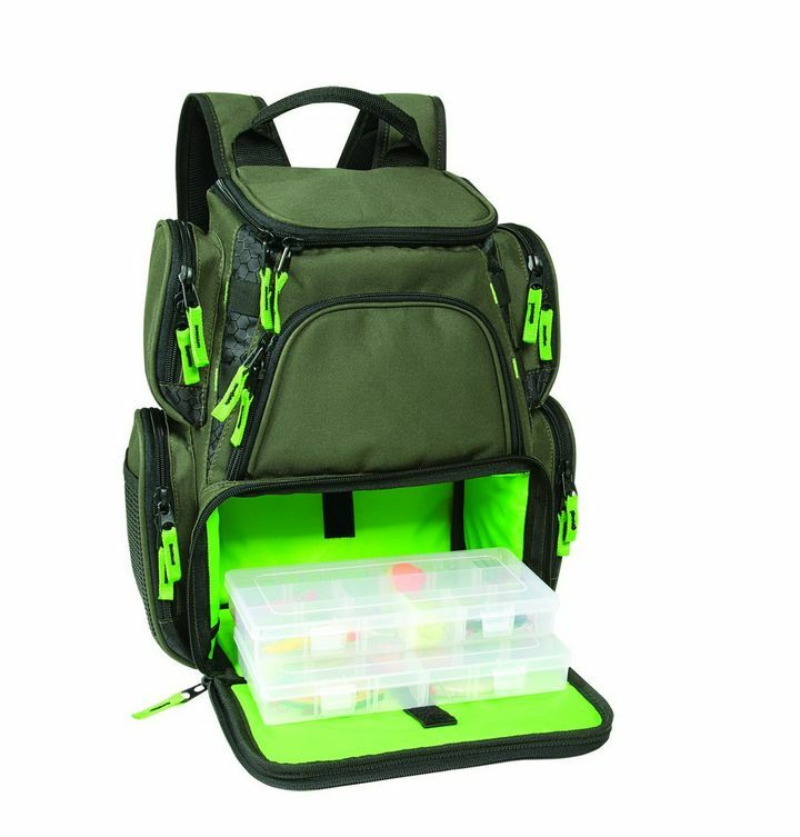 Multi tackle large backpack boxes bags fishing equipment for Fishing tackle box backpack