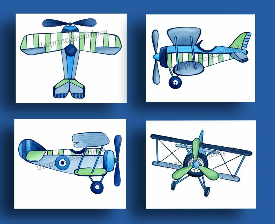 Vintage airplanes little planes bedding kids baby boys Vintage airplane decor for nursery