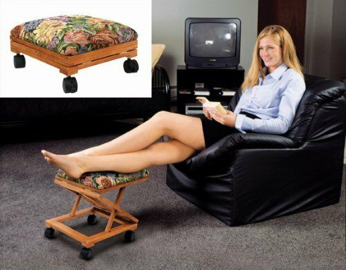 Footrest Fold A Way Tapestry Elevated Foot Stool