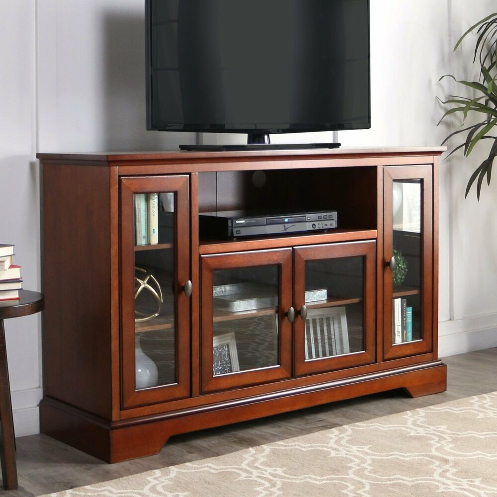 Walker furniture quot tv console rustic brown highboy wood