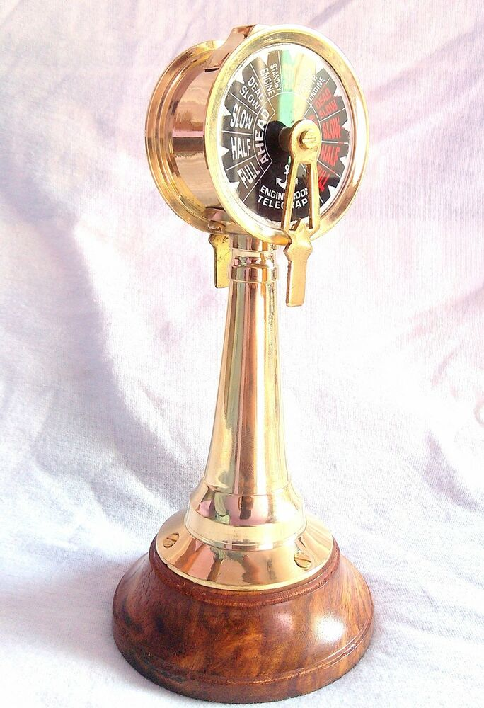 Engine Room Telegraph: Marine Brass Ship Engine Telegraph Retro Design Nautical