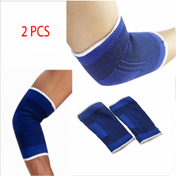 2 ELBOW Sleeve Brace Wrap Support Tennis Elastic Compression Sports Pain Relief