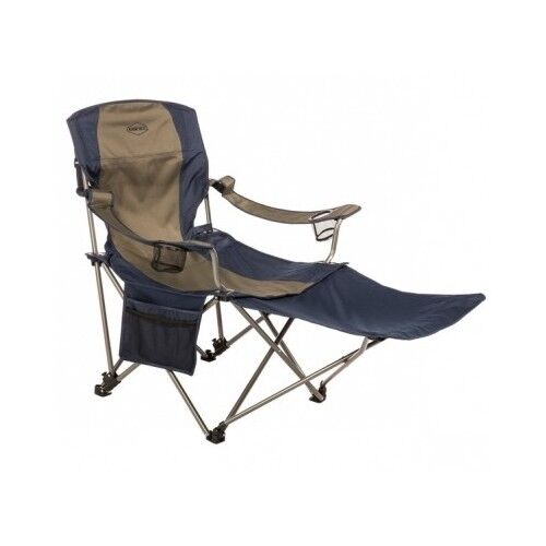 Folding Camp Chair Camping Footrest Heavy Duty Outdoor Lounge High Back Porta
