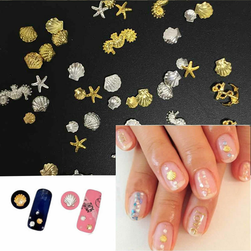 3d nail art decoration ocean alloy jewelry glitter for 3d nail decoration