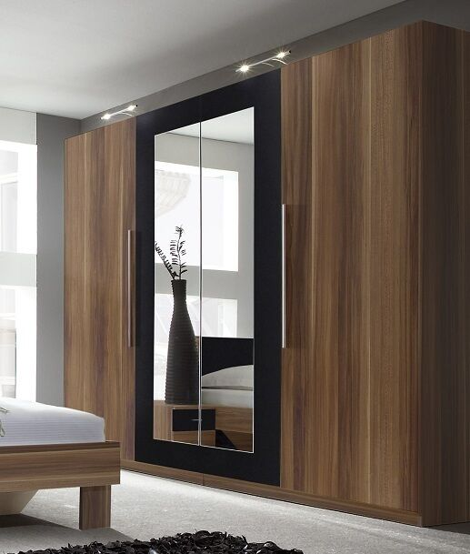 schlafzimmer vera nussbaum kleiderschrank ebay. Black Bedroom Furniture Sets. Home Design Ideas