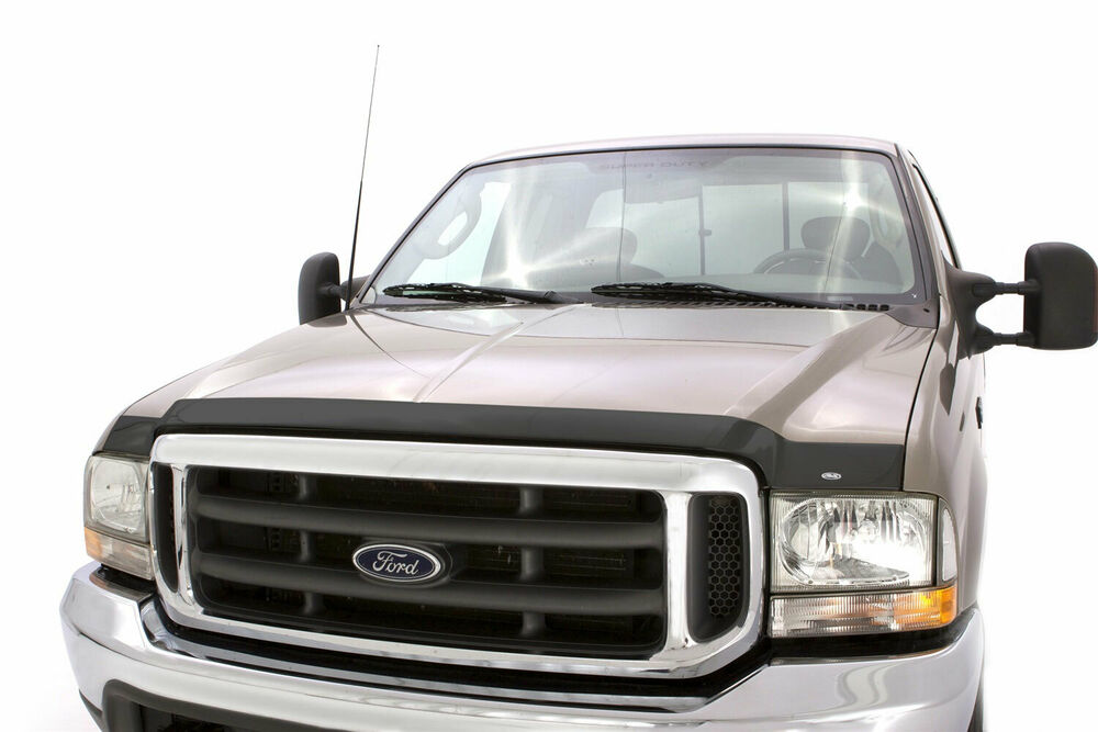 aeroskin smoked hood protector for 99 07 ford f 250 super duty avs 322067 ebay. Black Bedroom Furniture Sets. Home Design Ideas