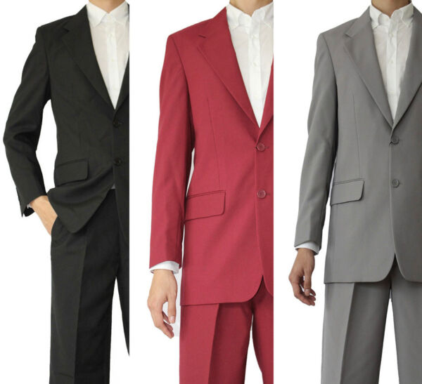 Men's Basic 2 Button Single Breast Work Suit 702P Multi-Color Size 38 - 56