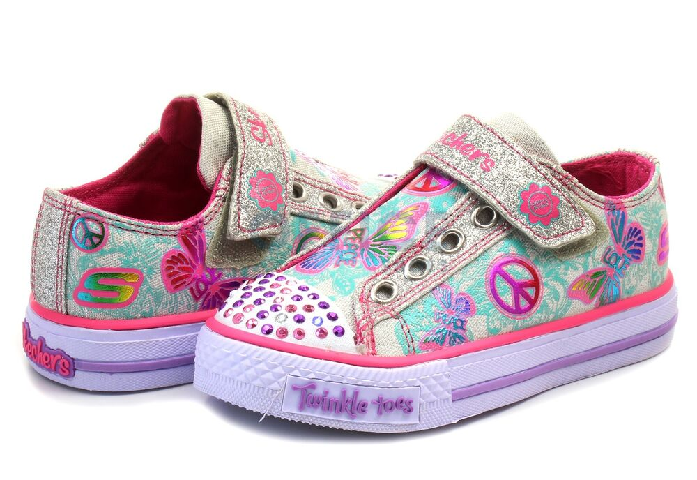 new girl 39 s skechers 10289n twinkle toes shuffles glow girl. Black Bedroom Furniture Sets. Home Design Ideas