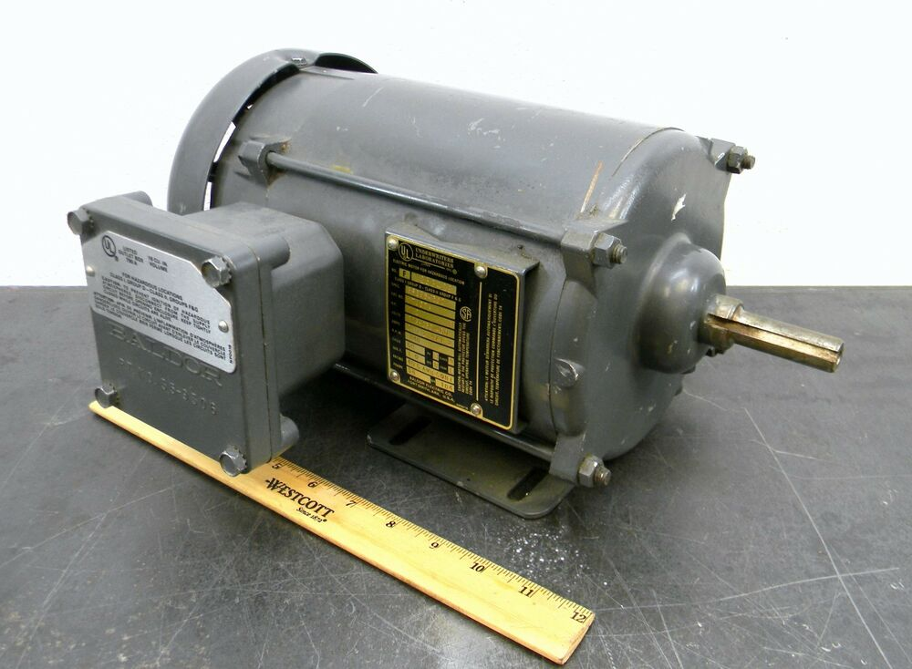 baldor m7007a explosion proof motor 1 2 hp 1140 rpm 3 ph