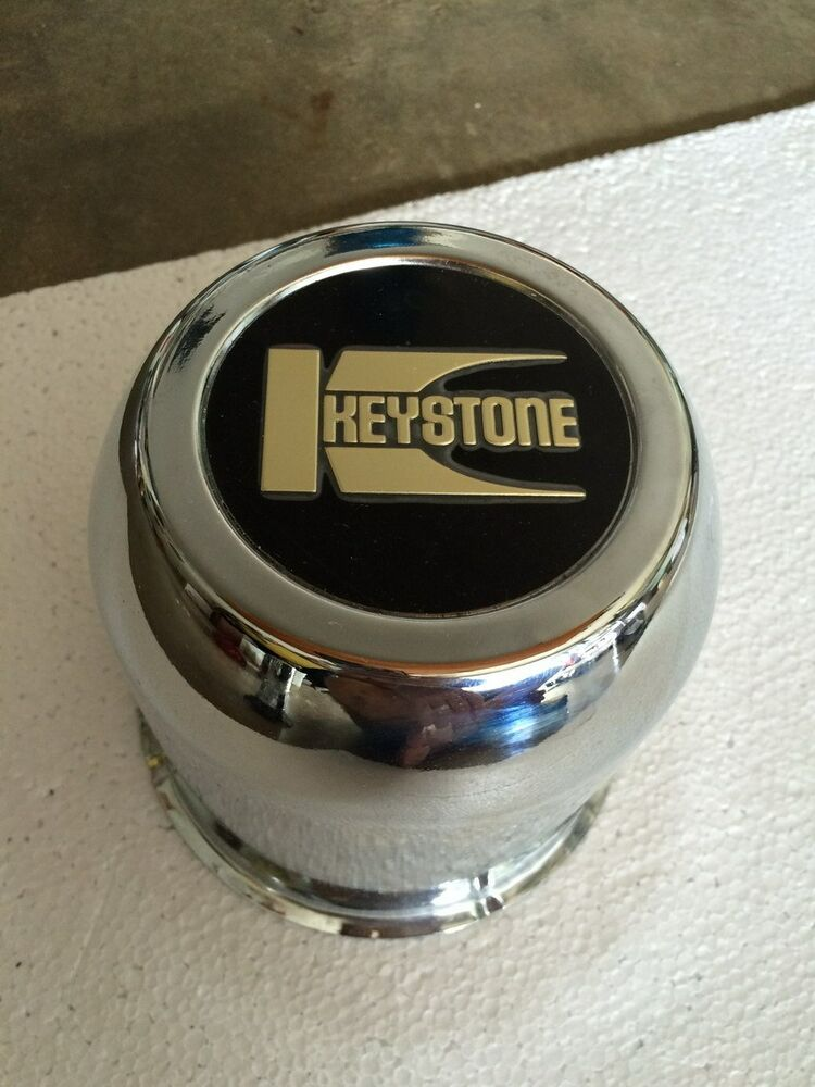 New Center Cap Wheel Centercap Keystone Chrome Metal Push