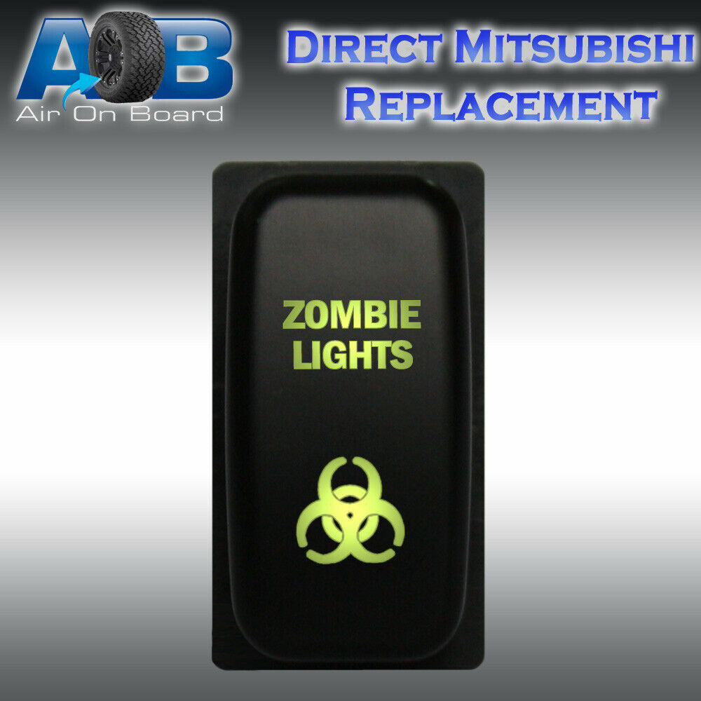 Mitsubishi Push Switch 106g 12v Zombie Lights On Off Led Green Light Wiring Diagram Pajero Triton Ebay
