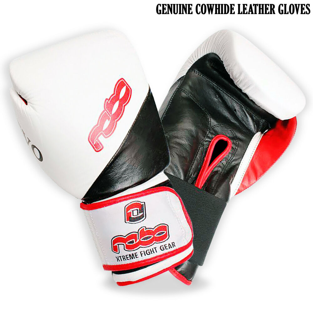 Evo Fitness Boxing Gloves: Boxing Gloves Cow Hide Genuine Leather Fight Evo Design