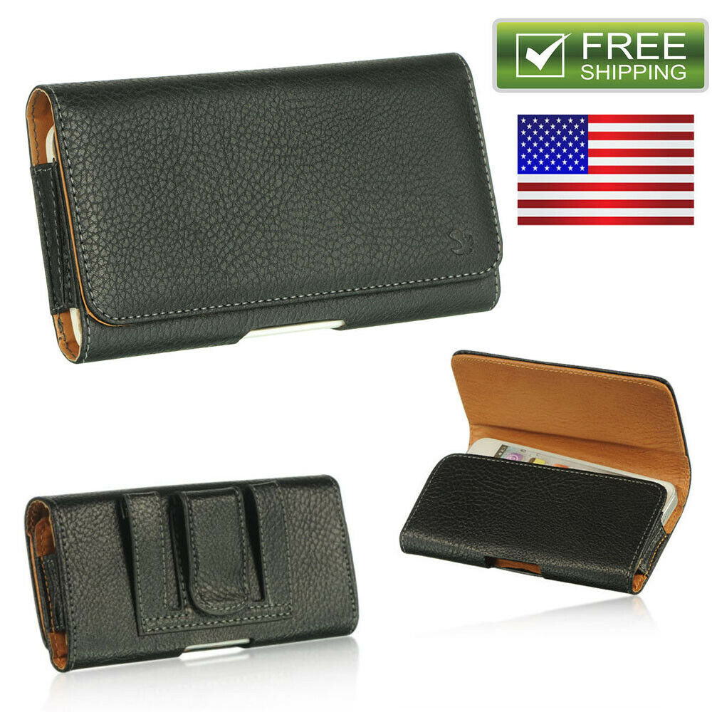 luxmo horizontal belt clip pouch leather holster