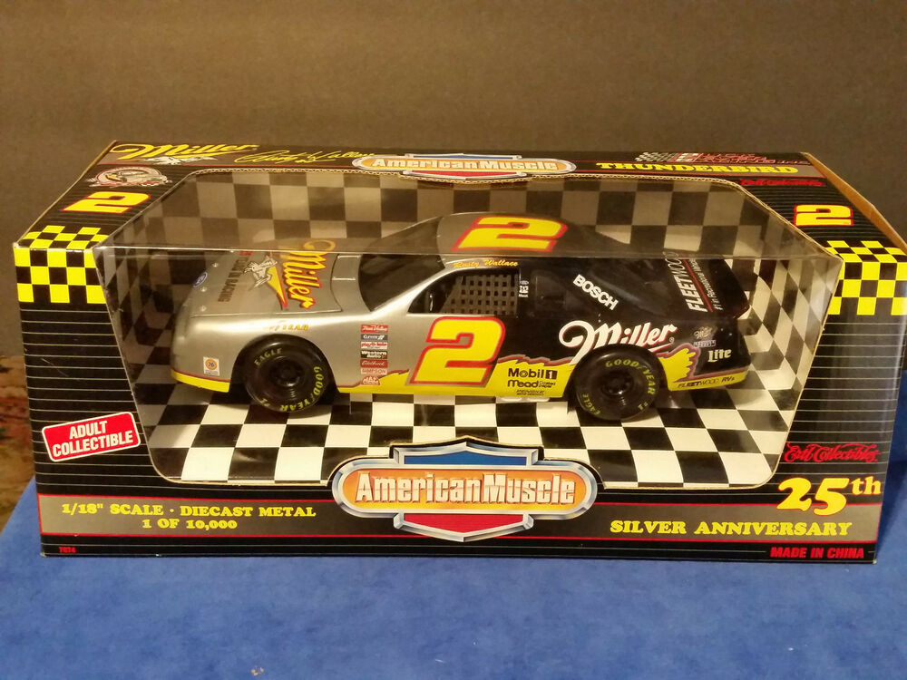 ertl american muscle 25th anniversary rusty wallace 2 miller nascar 1 of 10000 ebay. Black Bedroom Furniture Sets. Home Design Ideas