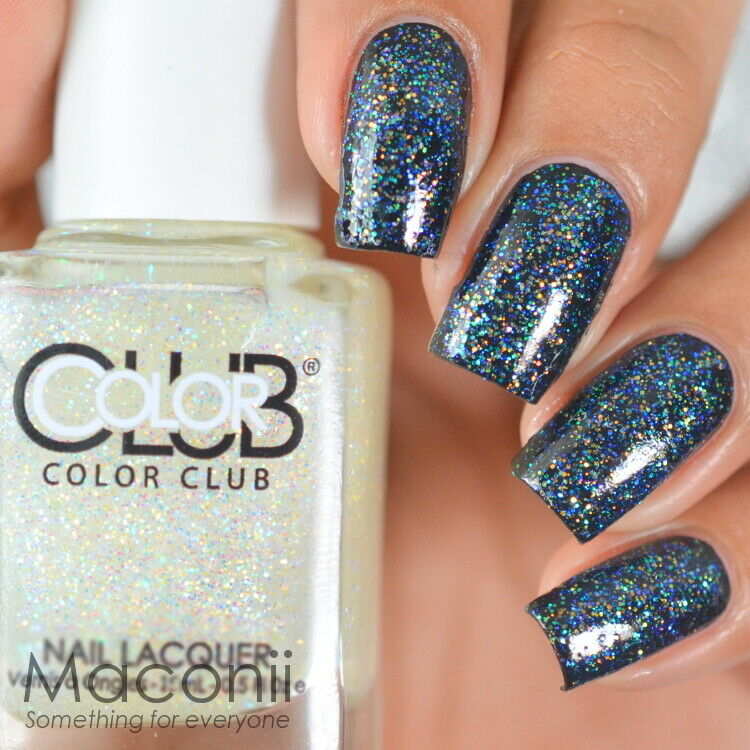 Color Club Starry Temptress Top Coat Iridescent Opal Glitter