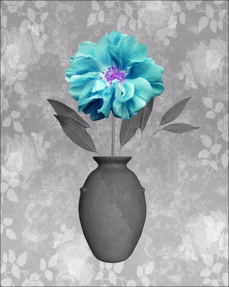 Turquoise Gray Home Decor Wall Art Photo Teal Aqua Print