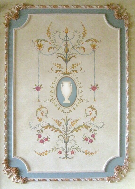 marie antoinette grand panel wall stencil large detailed french decor ebay. Black Bedroom Furniture Sets. Home Design Ideas