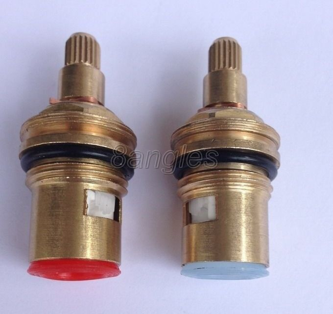 Everso Ceramic Thermostatic Valve Faucet Cartridge: 2 Pcs 18 Mm H/C Faucet Mixer Tap Valve Core Ceramic Disc