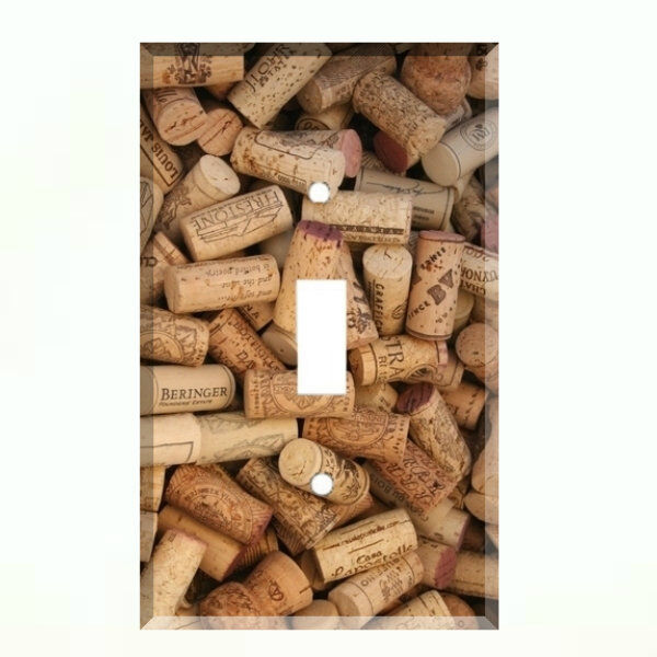 Wine Cork Light Switch Plate Wall Cover Kitchen Decor