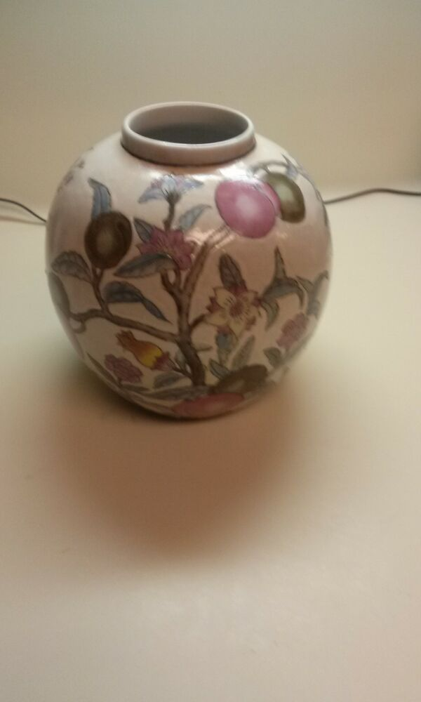 Hand Painted Fruit Vases