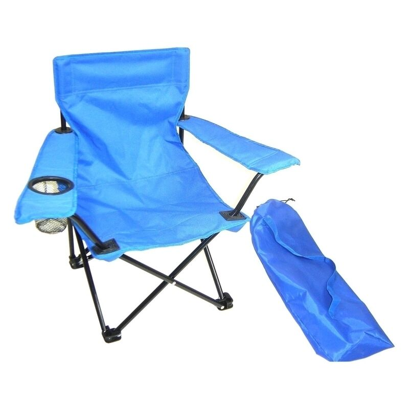 Redmon Kids Folding Camp Chair W Matching Tote Bag 9006bl
