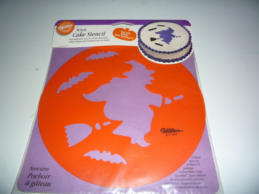 Halloween Cake Decorating Templates : Witch Halloween Cake Stencil from Wilton - NEW eBay