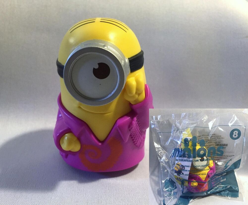 2015 McDonalds Happy Meal MINIONS MOVIE- Talking Groovy ...
