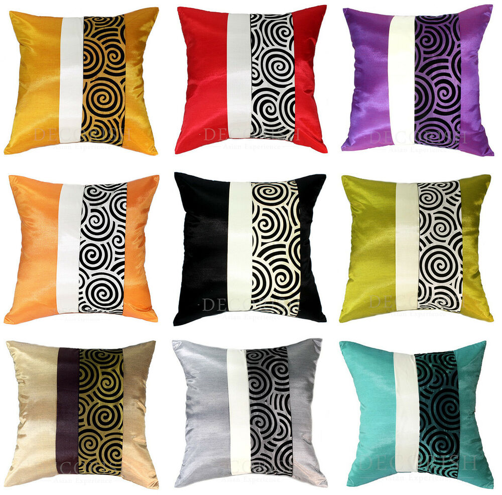 Sofa Pillows Contemporary: 1x CONTEMPORARY SILK THROW DECORATIVE PILLOW COVER CUSHION