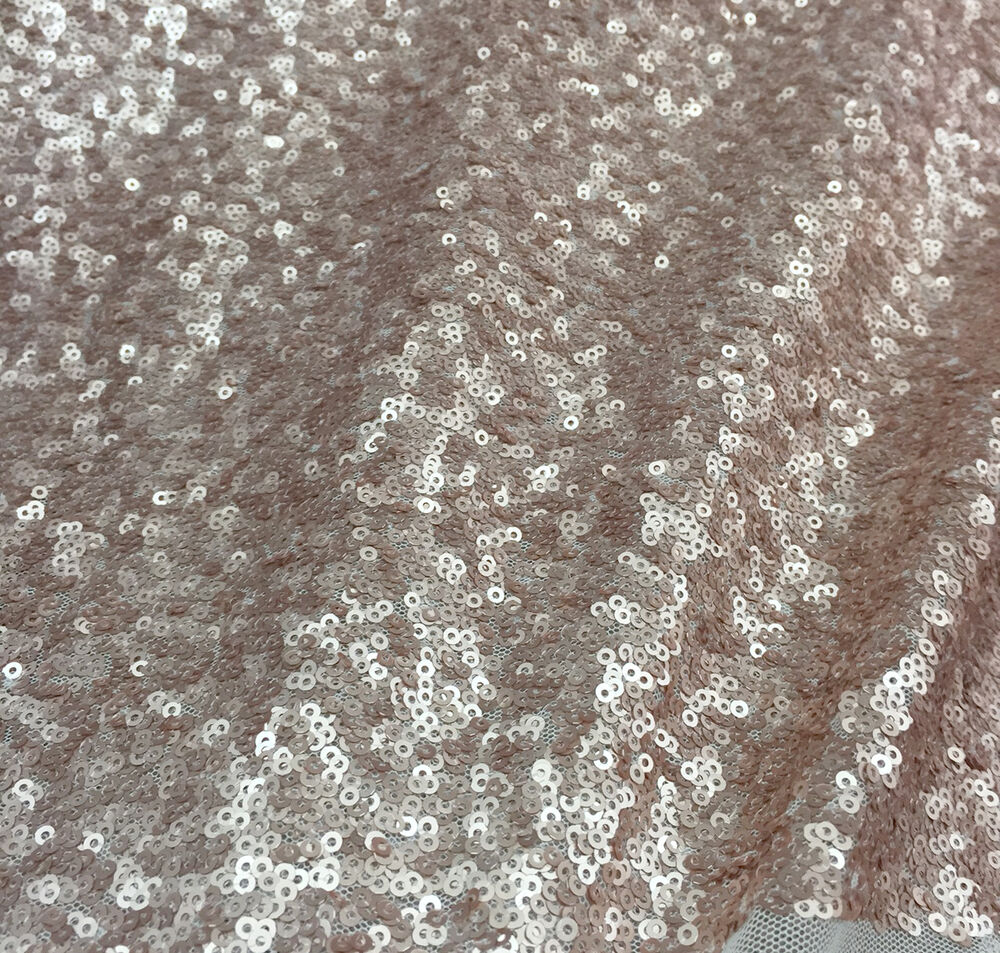6 yards lot champagne seaweed sequin fabric 50 x216 ebay for Sequin fabric