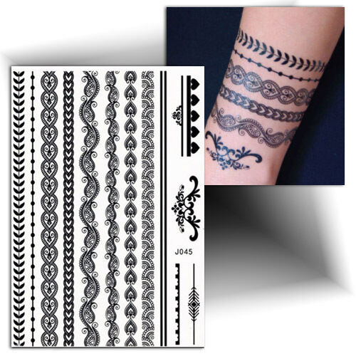 tatouage temporaire bracelet ph m re flash tattoo faux tattoo femme ebay. Black Bedroom Furniture Sets. Home Design Ideas