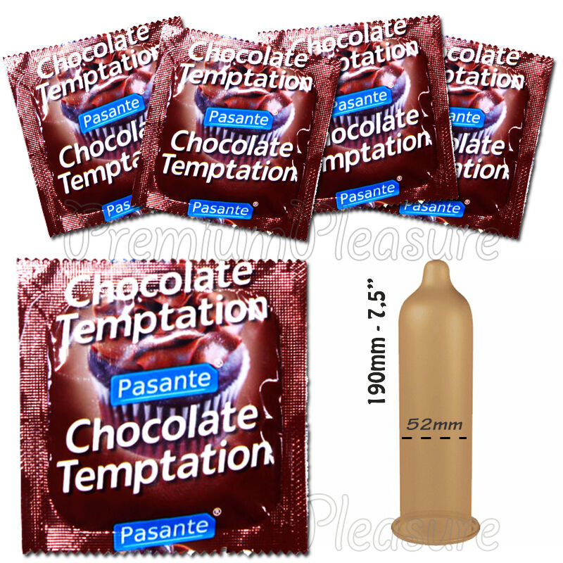 Pasante CHOCOLATE Temptation Flavored condoms x 1 - 3 - 10 ...