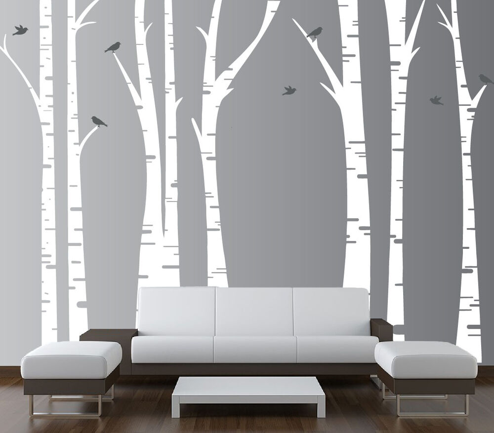 Birch Tree Wall Decal Forest Art Vinyl Sticker Removable