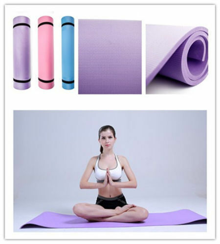 6mm Thick Non-Slip Yoga Mat Exercise Fitness Lose Weight