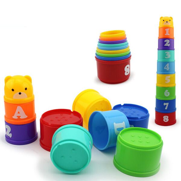 Kids Stacking Toys : Stacking stacks nest tower cups count number letter