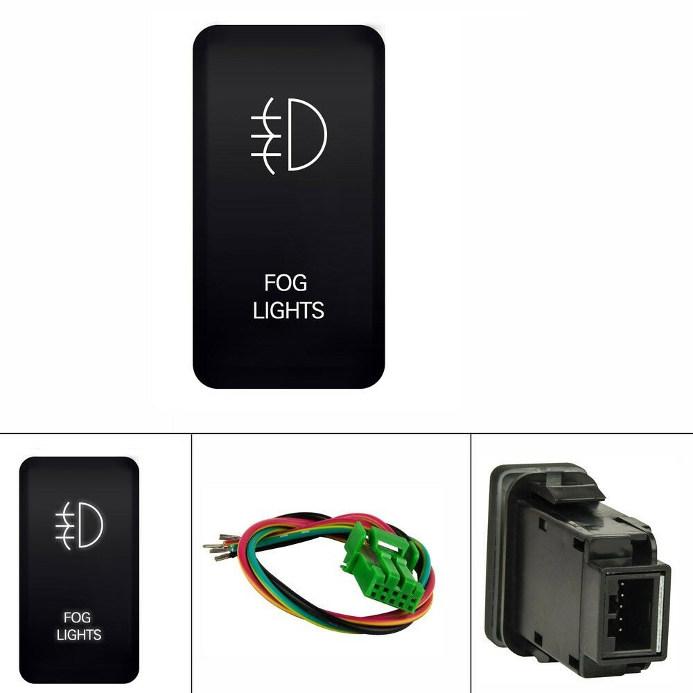 12V Push Switch LED Fog Light For Toyota Prado 120    Series