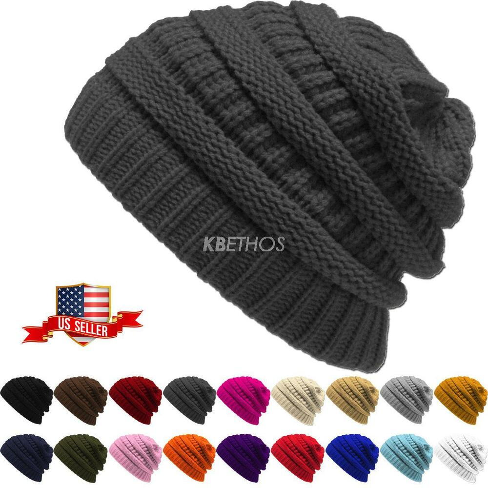 Details about Clearance Sale ! No Ugly label ! New Knit Slouchy Beanie  Oversize Thick Hat Warm 1bcd013106e