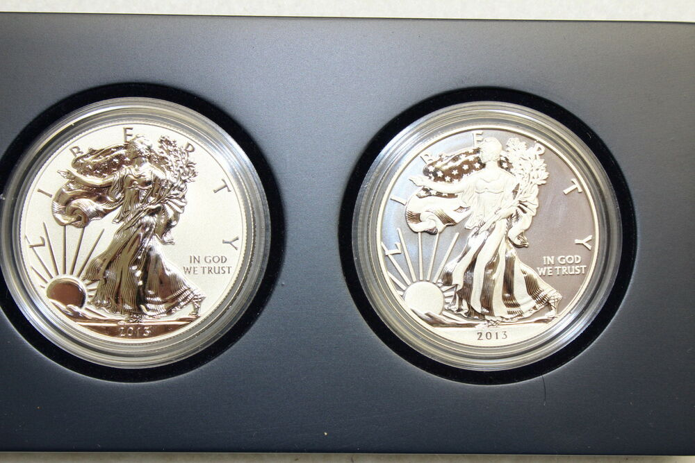 2013 West Point American Silver Eagle Proof 2 Coin Set S40 Quot W Quot Mint Mark Coa Ebay