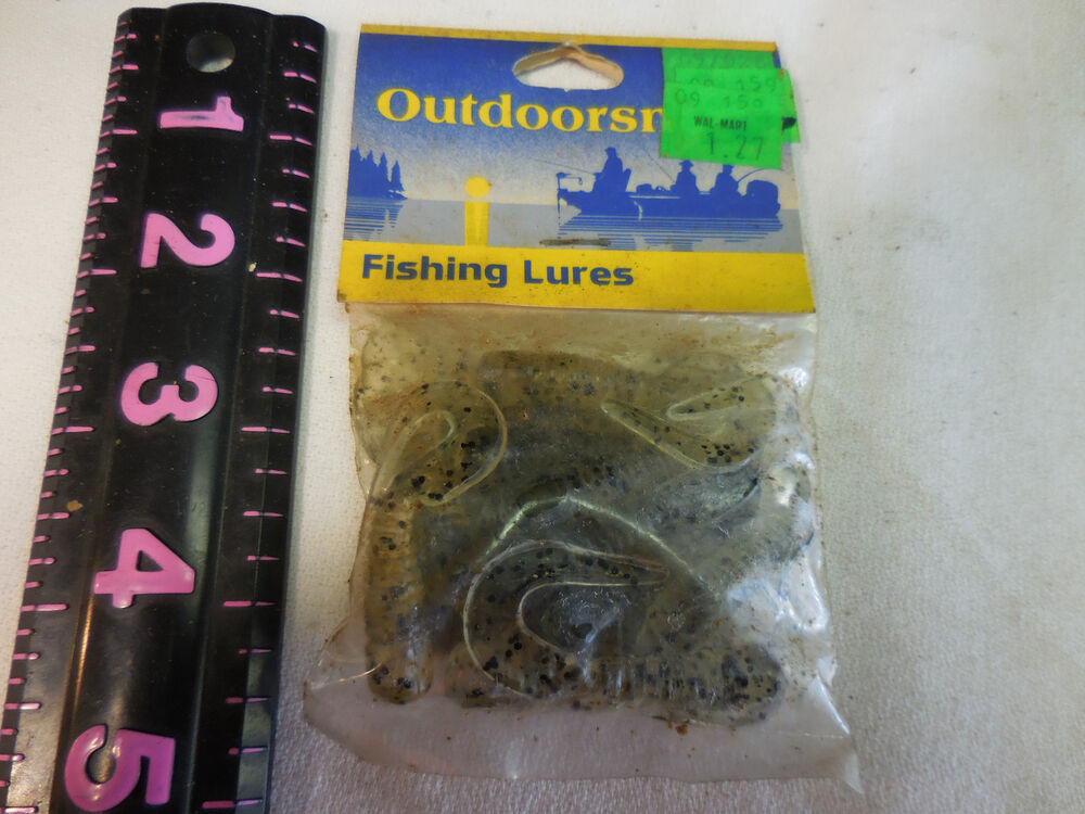 Vintage outdoorsman fishing lures plastic worms ebay for Fishing lures ebay