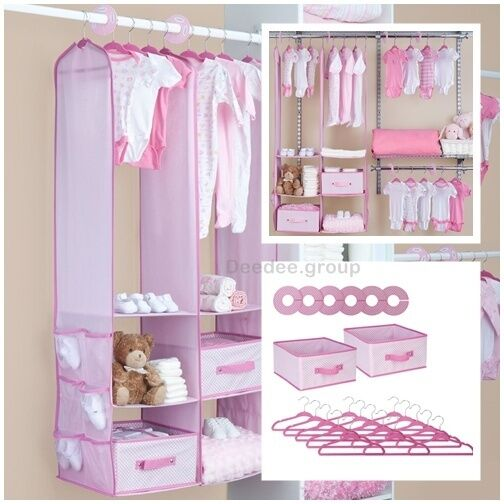 24 piece girl nursery closet organizer baby clothes
